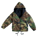 Rothco Reversible Lined Jacket With Hood - Woodland Camo