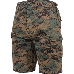 Rothco Camo BDU Shorts - Woodland Digital Camo