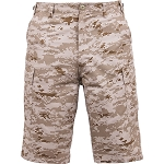 Rothco Long Length Camo BDU Short - Desert Digital Camo