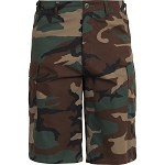 Rothco Long Length Camo BDU Short - Woodland Camo