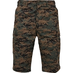 Rothco Long Length Camo BDU Short - Woodland Digital Camo