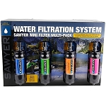 Sawyer MINI Water Filter - Multicolor 4-Pack