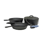 Stansport  6 Piece Cast Iron Cook Set - Pre-seasoned