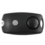 StreetWise Keychain Panic Alarm with LED Light - Black