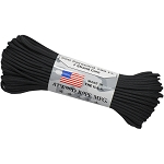 100' Black 550 Atwood Paracord
