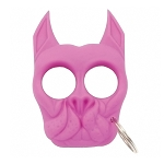 Brutus Self Defense Keychain - Mad Dog - Strong ABS Plastic - Pink