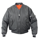 Rothco MA-1 Flight Jacket - Gun Metal Gray