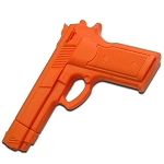 Solid Rubber Training Gun - Orange
