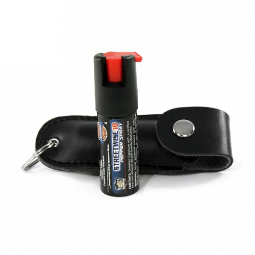 StreetWise Pepper Spray 18 - .5 oz with Button-Over Carry Case