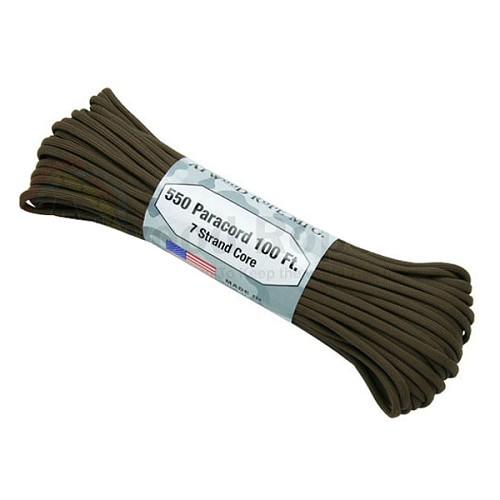 Atwood 550 Paracord - 100 ft - Brown