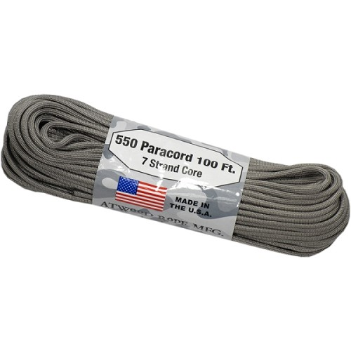 Atwood 550 Paracord - 100 ft - Graphite