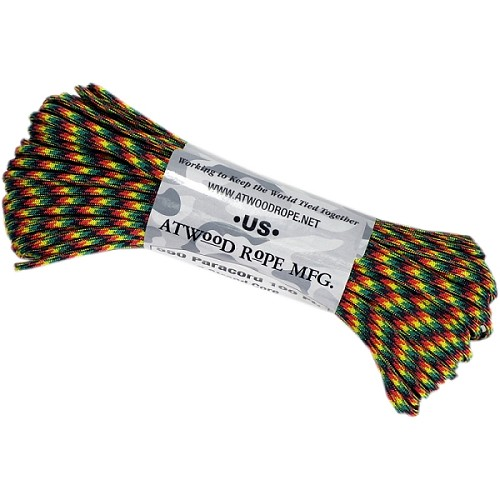 Atwood 550 Paracord - 100 ft - Jamaican Me Crazy