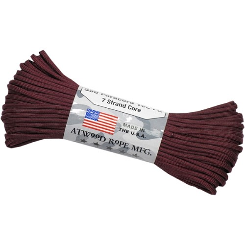 Atwood 550 Paracord - 100 ft - Maroon