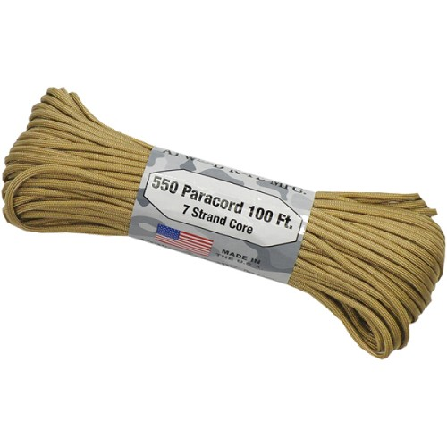 100' Tan Atwood 550 Paracord