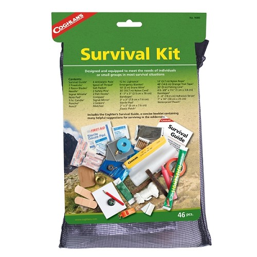 Coghlans Survival Kit with Instructional Guide