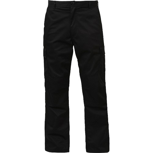 Rothco Relaxed Fit Zipper Fly BDU Pants - Black