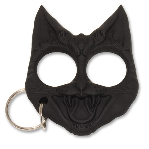 Wild Cat Self Defense Keychain -  Black